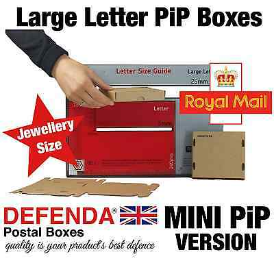 MINI PiP POSTAL BOXES LARGE LETTER JEWELLERY Pricing in Proportion Royal Mail