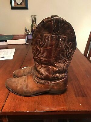 e4bc4a6e6ed MENS BOULET COWBOY Leather Boots Made in Canada - Size 12