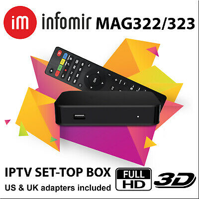 MAG 322 Latest Original Linux IPTV OTT Box Infomir mag 254 Mag322 BEST PRICE