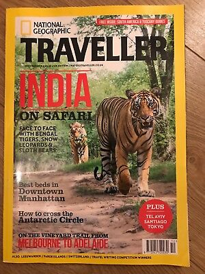 NEW NATIONAL GEOGRAPHIC TRAVELLER OCT 2018+FREE South America/Tuscany Suppements