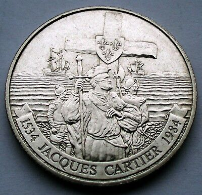 CANADA 1 DOLLAR 1534-1984 KM#141 Jacques Cartier GG13.2