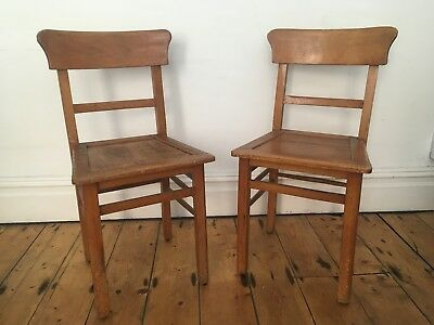 Vintage French School Chairs / Bistro Chairs Worn  & Lovely