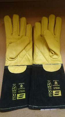 High Quality Esab Curved TIG Welders Gauntlets Welding Gloves x 1 pair size 9