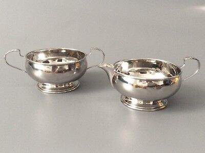 Hallmarked Sterling Silver Sugar Bowl and Creamer - 106g Not weighted