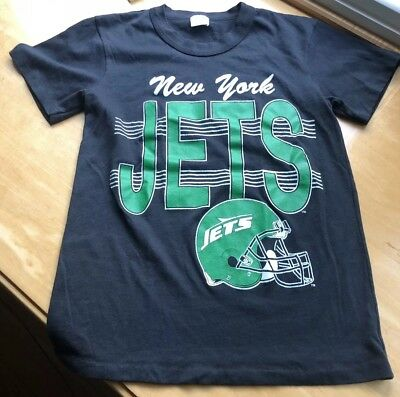 f25aeb0f0 Vintage 1980s NFL New York Jets T-Shirt Small Garan Made In USA Single  Stitched