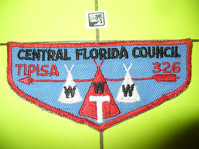 OA Tipisa Lodge 326,F-1, 1956, First Flap,FF,Rating 5,Central Florida Council,FL