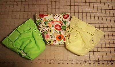 Bum-ware AIO cloth baby diapers with hook and loop closure size large/set of 3