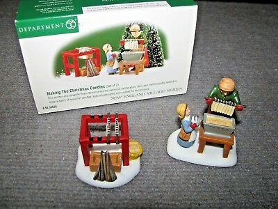 """Vintage Dept 56 Dickens Village """"Making The Christmas Candles"""" #56.56620"""