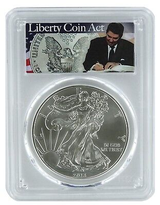2013 1oz Silver Eagle PCGS MS69 - Liberty Coin Act Label