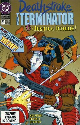 Deathstroke the Terminator #13 1992 VG Stock Image Low Grade