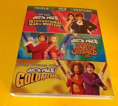 Austin Powers Collection (Blu-ray,2012,3-Disc Set)w/Slipcover-NEW-Free SHIPPING