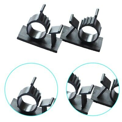 10PCS Cable Clips Adhesive Cord Management Black Wire Holder Organizer Clamp AU