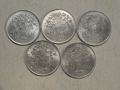 LOT, Five of Vietnam 50 Su 1963, KM4, Choice Uncirculated     0802-19