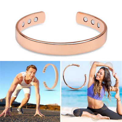 Magnetic Copper Bangle Bracelet Healing Bio Therapy Arthritis Pain Relief Cuff