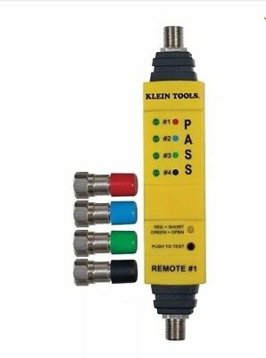 Klein Tools Coaxial Cable Tester Wire Tracer Coax Multi Line Color-Coded New