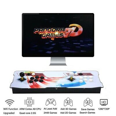 3D Pandora Box 7 Arcade Console with 2177 Retro HD Games 2 Players Add More Game