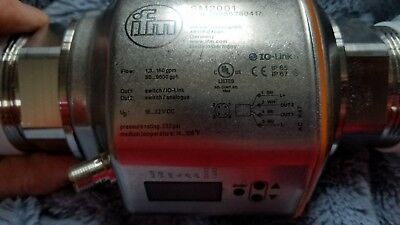 "IFM Flow Sensor SM2001 Monitor Meter 2"" In & Out"