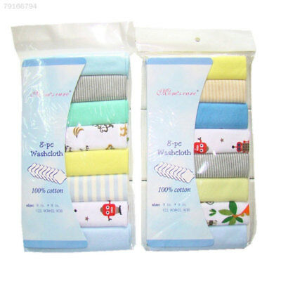 7781 8Pcs/Pack 100% Cotton Newborn Baby Towels Toalha Nursing For Boys Washcloth