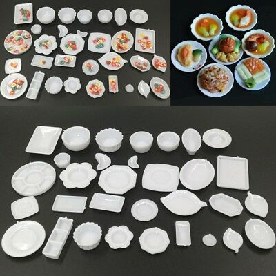 33Pcs/set Dollhouse Miniature Dish Tableware Kitchen Mini Food Plates Kids Toy