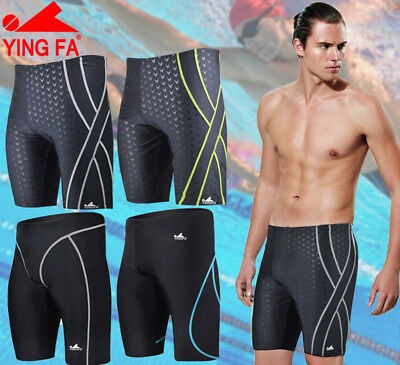 c5581e3833 YINGFA Mens Competition Shorts Jammers Racing Training Swimwear Trunks  Swimsuit
