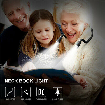Battery Powered Outdoor LED Neck Hanging Light Book Reading Lamp Knitting Light