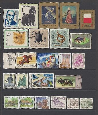 Poland - 23 used stamps  ( Lot143 )