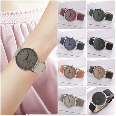 Fashion Womens Frosted Leather Strap Quartz Casual Luxury Ladies Wrist Watches
