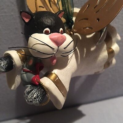 cat ornament, Christmas, Holiday, Bobble Legs, Metal