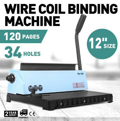 Spiral Coil Binding Machine 34 Holes Manual Puncher Book Professional Office AU