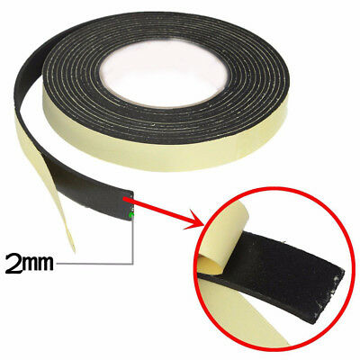 Useful 5M Single Sided Self Adhesive Foam Tape Sponge Rubber Strip Door Seal