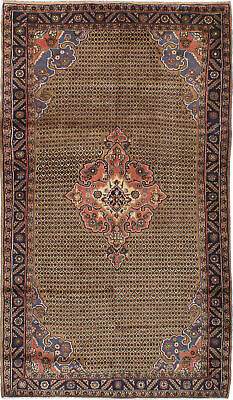 "Hand-knotted Persian 5'3"" x 9'3"" Koliai Traditional Wool Rug"