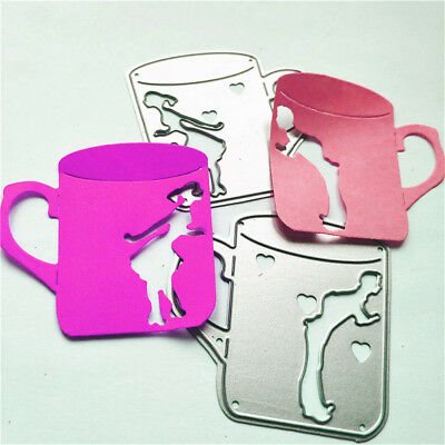 Lover Coffee Cups Frame Metal Cutting Dies For Scrapbooking Card Craft Decor  Z