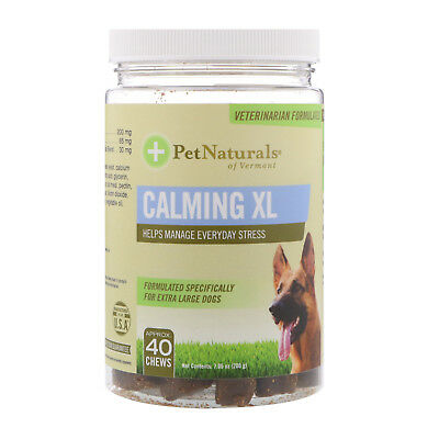 Pet Naturals of Vermont  Calming XL  For Extra Large Dogs  40 Chews  7 05 oz