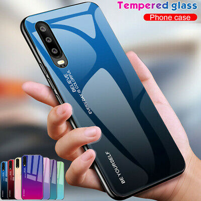 Gradient Tempered GLASS Back Case Cover For Huawei Mate 10 Mate 20 P20 Lite Pro