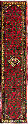 "Hand-knotted Persian Red Wool Rug 2'9"" x 12'7"""
