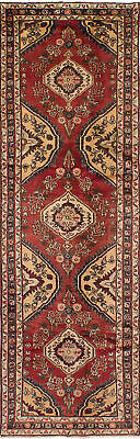 "Hand-knotted Persian Red Wool Rug 2'9"" x 10'4"""