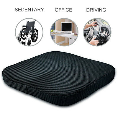 Comfort Cushion Orthopedic Memory Foam Seat Cushion For Coccyx Back Pain Relief