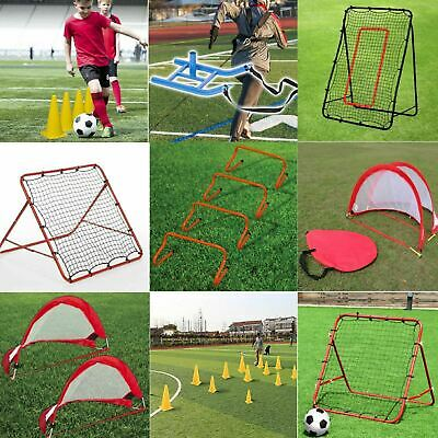 Gr8 Fitness Football Soccer Sport Training Equipment Cones Hurdles Rebounder Net