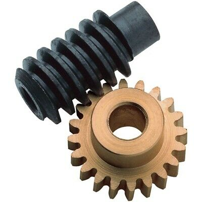Reely Brass Gear and Steel Worm Drive Set 1:20 (5mm and 4mm bores)