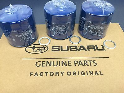 OEM Factory Subaru Engine Oil Filter & Crush Gasket (3 Pack) 15208AA12A Genuine