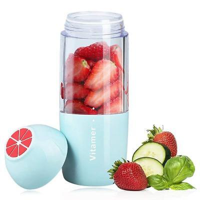 350ml. Personal Rechargeable Smoothies Blender Fruit Mixing Juicer Cup (Blue)