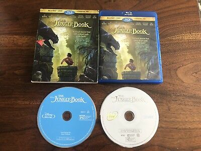 Disney's The Jungle Book (Blu-ray/DVD 2016) Live Action W/ Slipcover