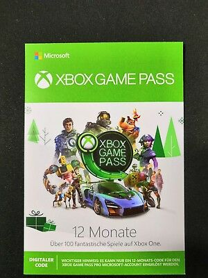 Xbox Game Pass 12 Monate (Versand per Mail)