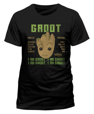 Guardians Of The Galaxy Vol 2 'Groot Skills' T-Shirt - NEW & OFFICIAL!