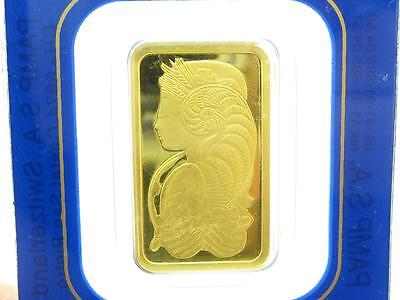 1 PAMP Suisse Lady Fortuna Five 5 Gram 999.9 Fine Gold Bar