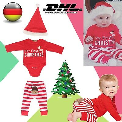 Baby Set Outfit Weihnachten My First Christmas Body Hose Strampler Romper DHL
