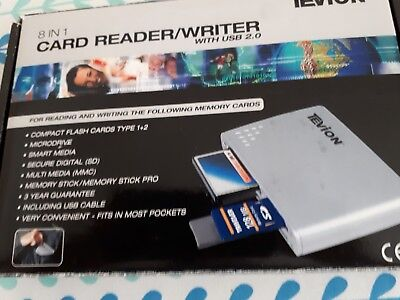 Tevion 8 In 1 Card Reader Writer New In Box