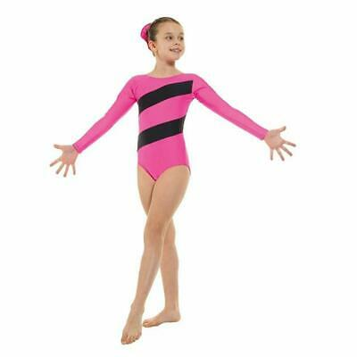 Pour Filles Gymnastique Justaucorps - Gym 3 Rose - Tappers   Pointers ... f75b331282a