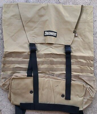 TRASHAROO Off-Road Canvas Bag, DESERT TAN - Gen 2, Easily Attaches to Spare Tire