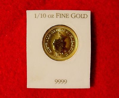 1987 Australia 1/10 Ounce Gold Nugget Coin 1890 'Little Hero' $15 Sealed